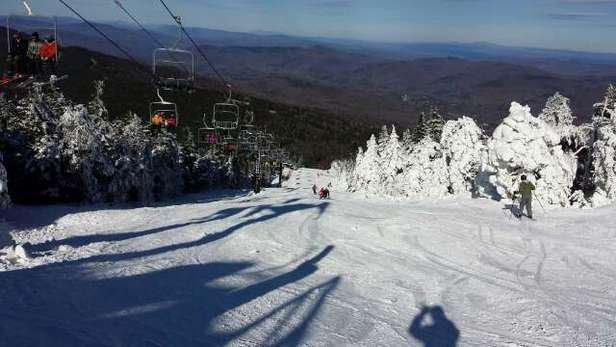 Awesome opening day. Snow cover was ample and the surface soft. Great job by Killington!