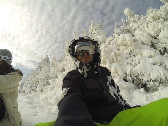 Awesome to be back on the snow Saturday. The long lift lines were worth it.