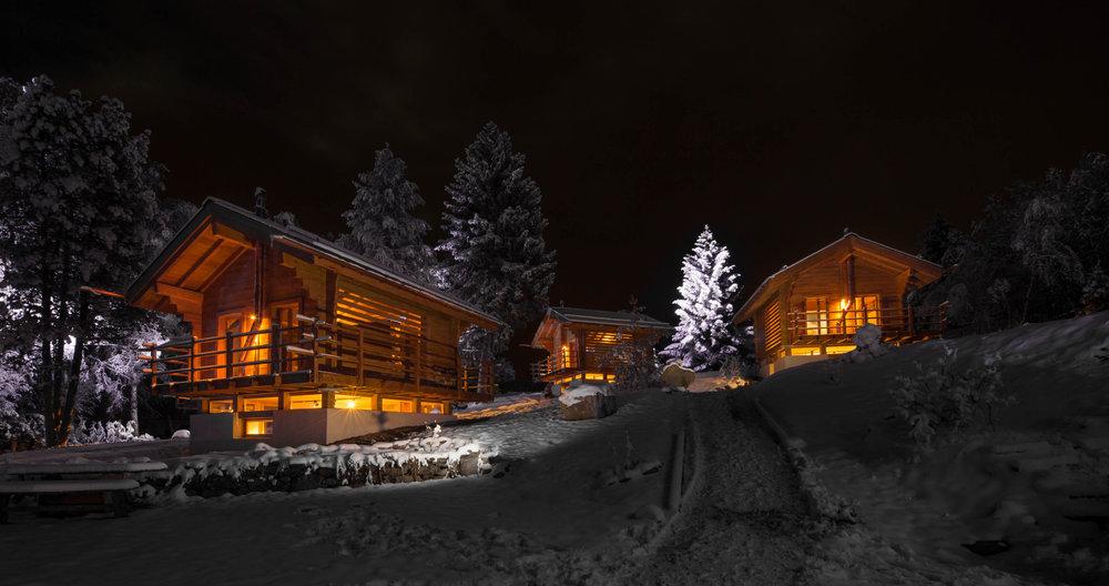 Hébergement en chalets à Vercorin - © Val d'Anniviers Valais