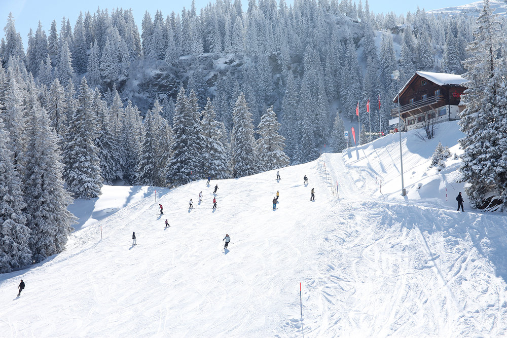 There is also space for snowboarders - © Bergbahnen Flumserberg