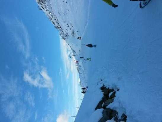 impianto e  pista col margherita aperti.ottima neve