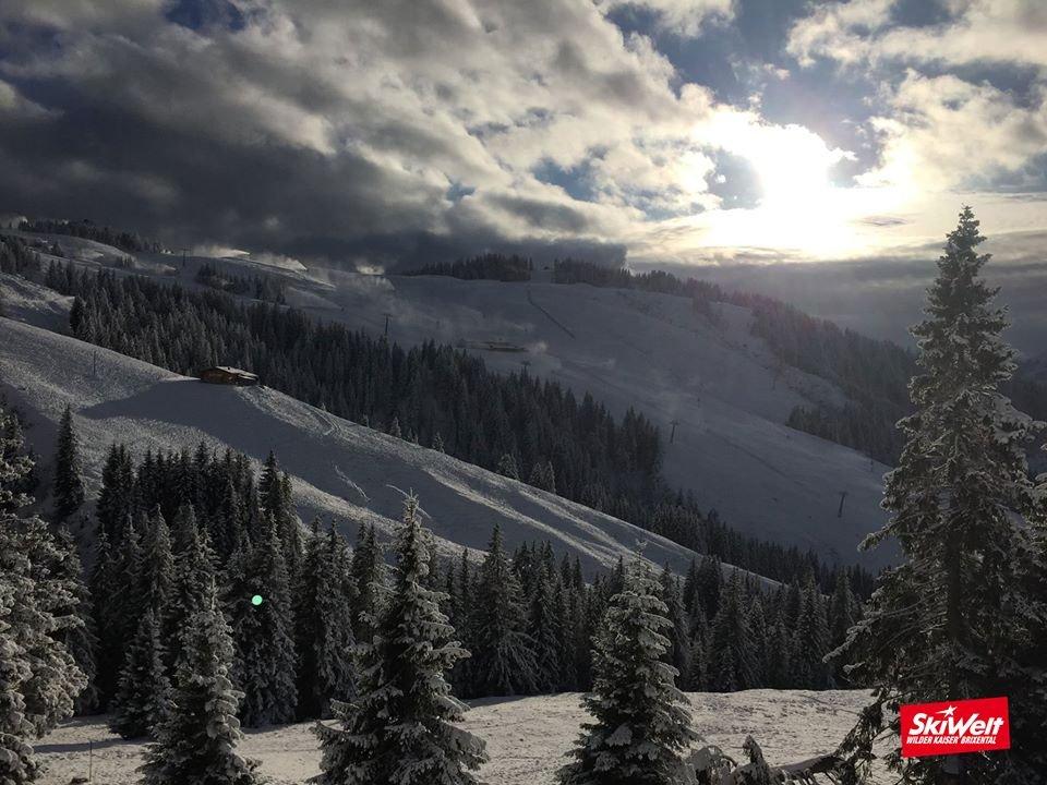 Die SkiWelt Wilder Kaiser Brixental am Morgen des 10.12.2014