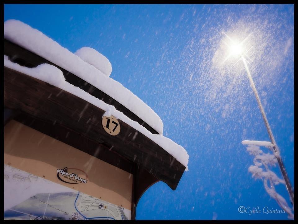 Neuschnee in Alpe d´Huez (16.11.2014) - © Cyrille Quintard