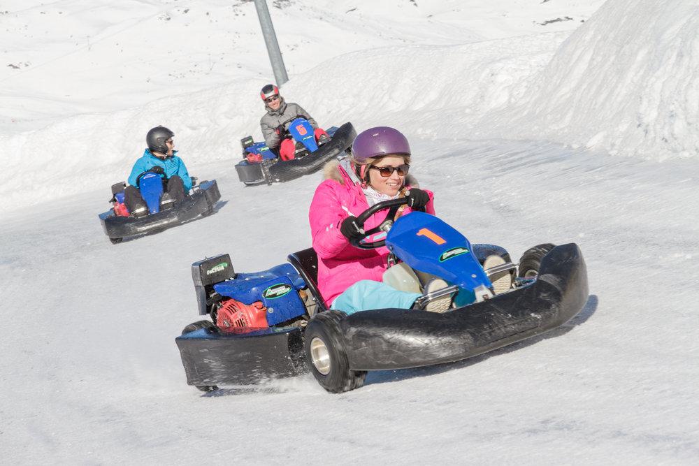 Frissons garantis au volant d'un kart sur glace... - © Val Thorens
