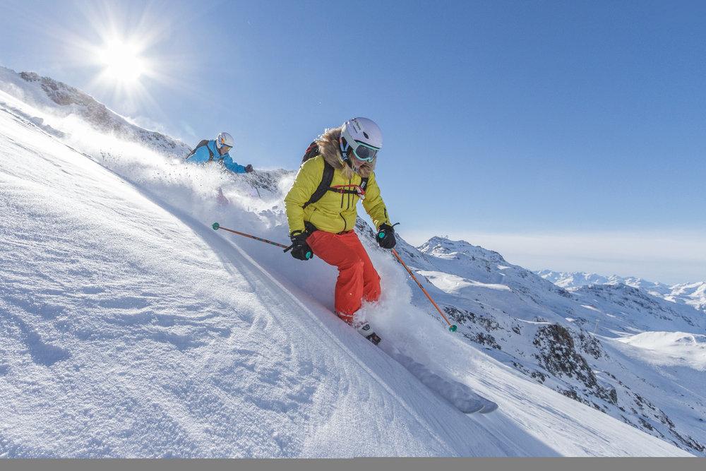 Grand ski en janvier sur les pentes de Val Thorens... - © Val Thorens
