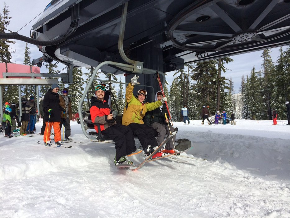 Loading the chair on opening day at Mt. Bachelor in Nov. 2014. - © Mt. Bachelor Resort
