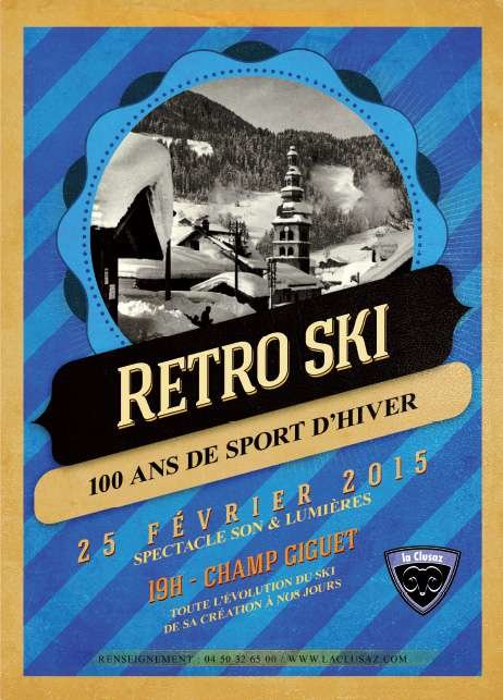 Retro ski La Clusaz - ©OT La Clusaz