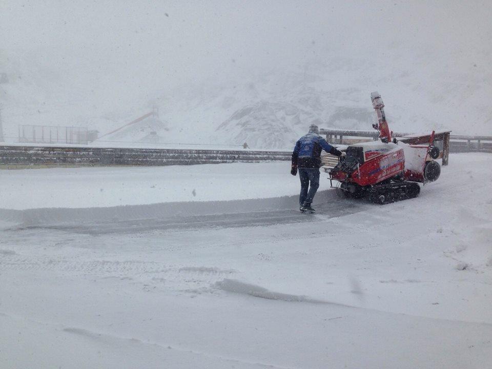 Ook de Kaunertal-gletsjer kreeg zijn laagje verse sneeuw.