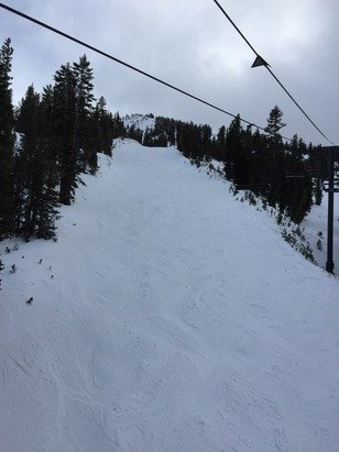 Great skiing day yesterday.  Trails accessed from Main Lodge very nice.  Chutes were closed.  Lots of trails to puck from.