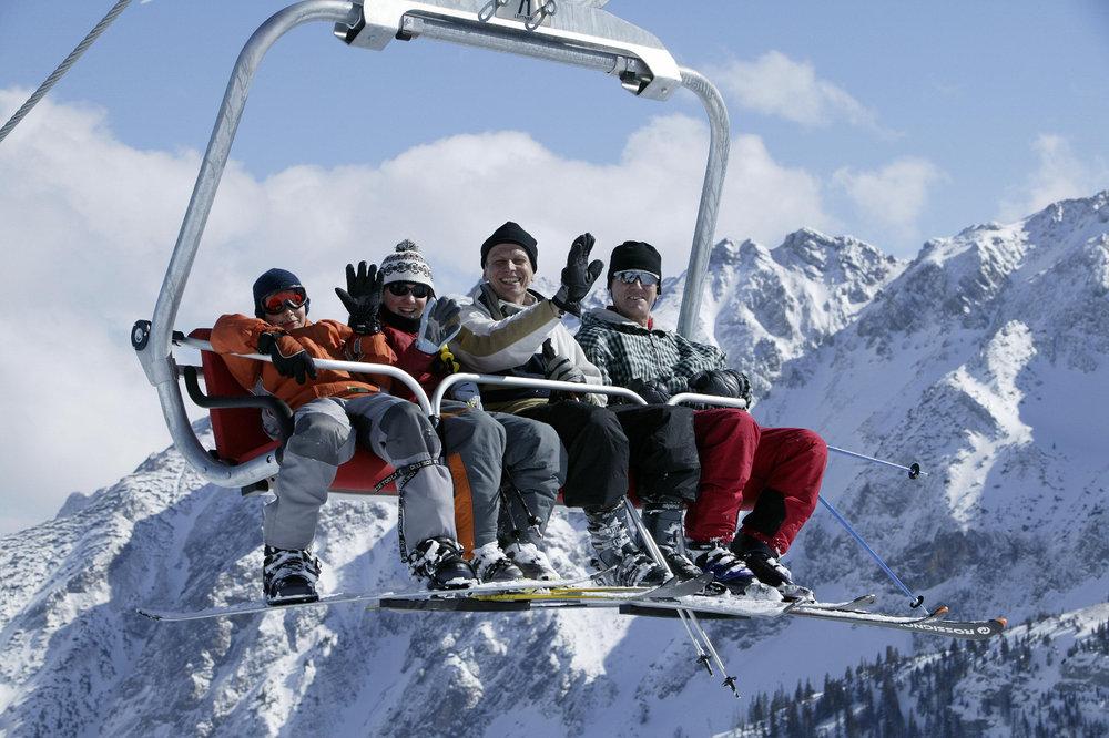Skifahren im Skigebiet Breitenberg - © Pfronten Tourismus