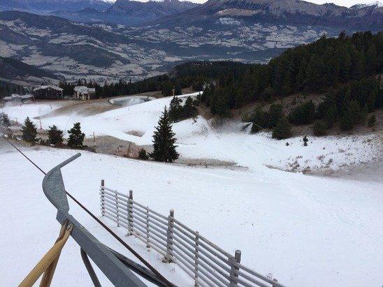 La station ouvrira samedi 20 .  1 téléski sera ouvert sur le front de neige