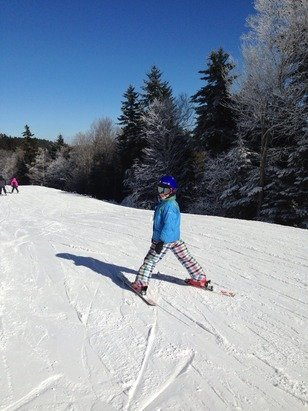 Beautiful day in snowshoe today
