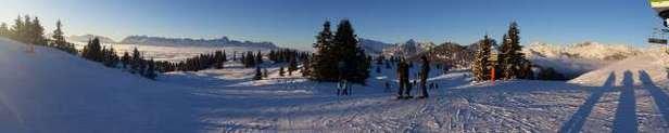 Une excellente semaine passée aux Houches. Mauvaises conditions d'enneigement à partir de vendredi 02/01