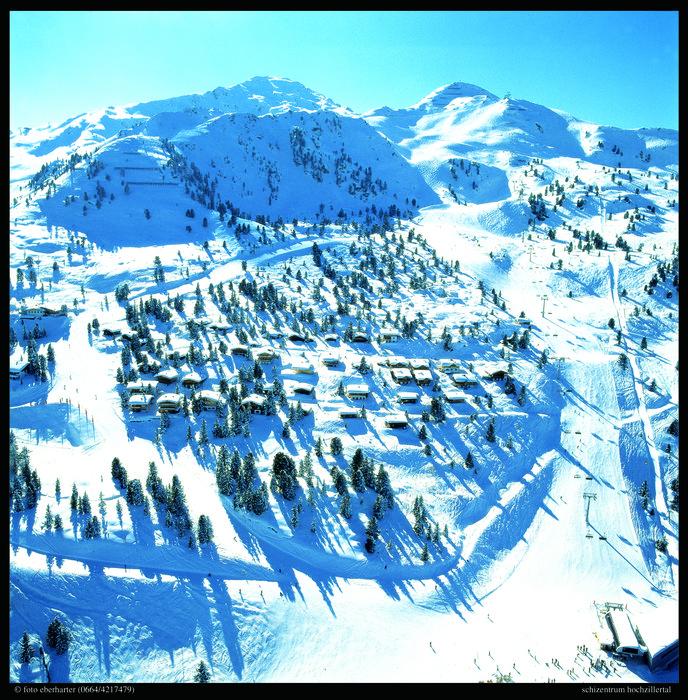 The town of Hochfuegen, AUT in winter.