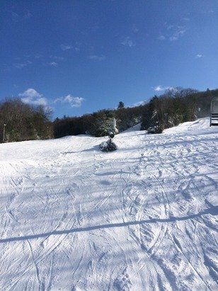 The couple inches we for made it pretty good. Some hard spots in the shade but overall soft snow