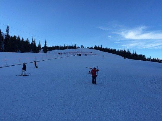 Great skiing at base camp