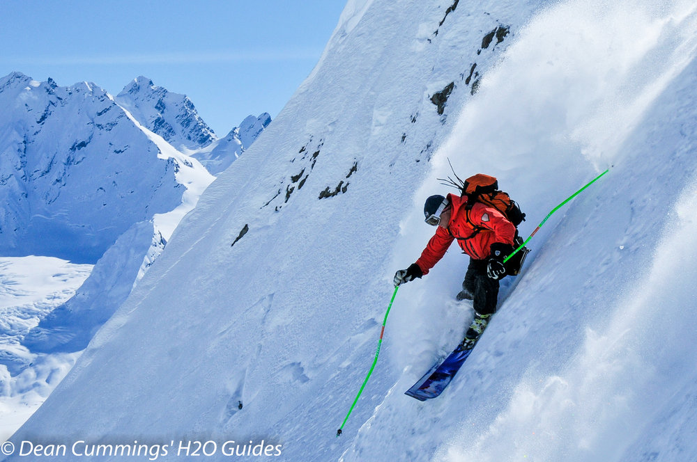 Skier Dean Cummings enjoys the steep life. - © Josh Cooley