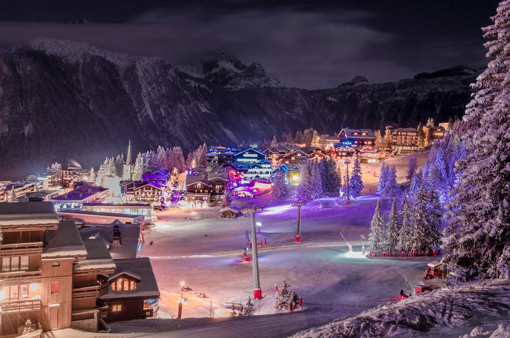 Courchevel by night - © OT de Courchevel