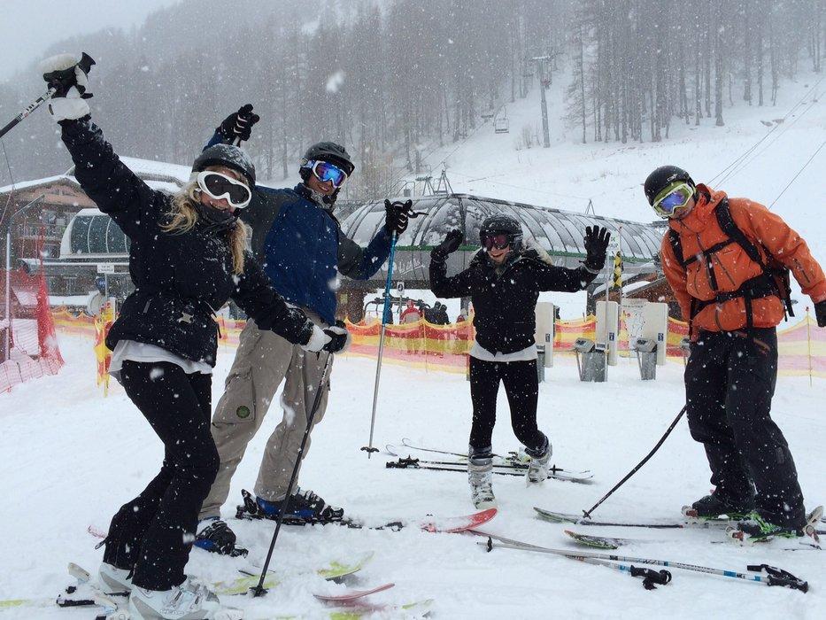 La  neige fait un retour marqué au Val d'Allos - © Office de Tourisme du Val d'Allos