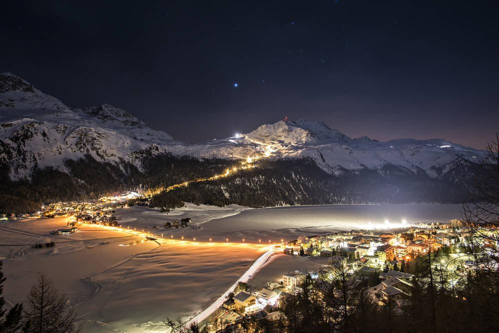Corvatsch bei Nacht - © Corvatsch.ch