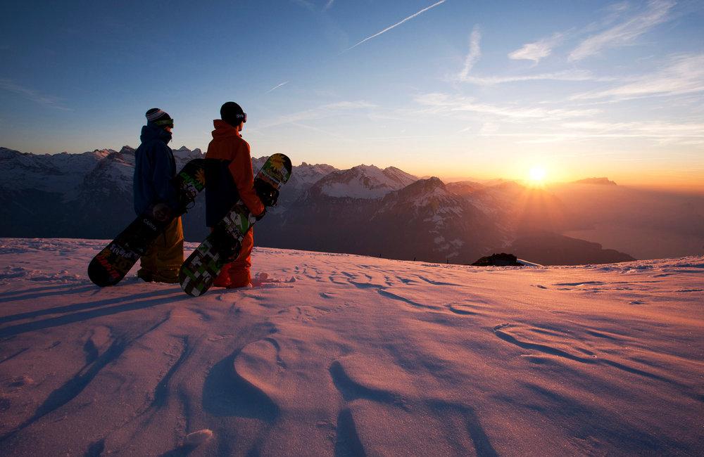Sonnenuntergang am Fronalpstock