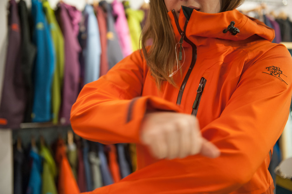 Bergans Myrkdalan Jacket has a fantastic stretch for one of the best fits we've tried on. - ©Ashleigh Miller Photography