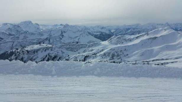 Super Panorama auf der Skiroute