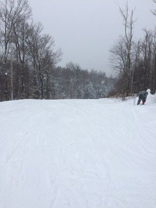 Lots of fresh powder wasn't crowded...I was impressed with the mountain...
