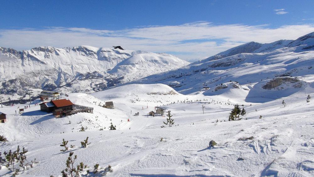 Vue sur le domaine skiable du Dévoluy - © Stéphane GIRAUD-GUIGUES / Skiinfo.fr