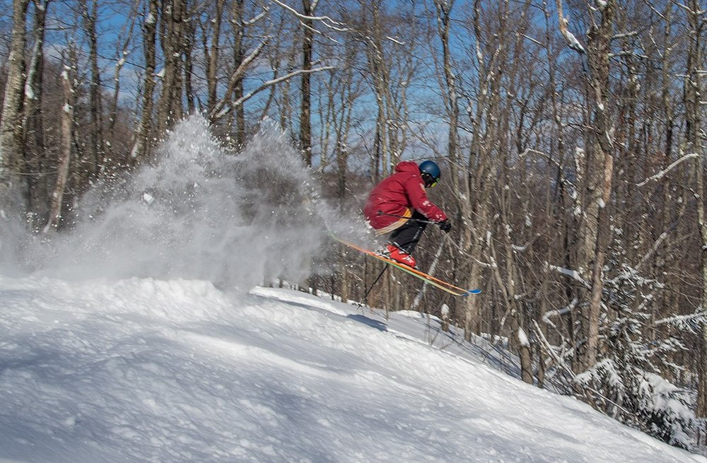 Catchin' some after gettin' some at Okemo Mountain Resort. - © Okemo Mountain Resort