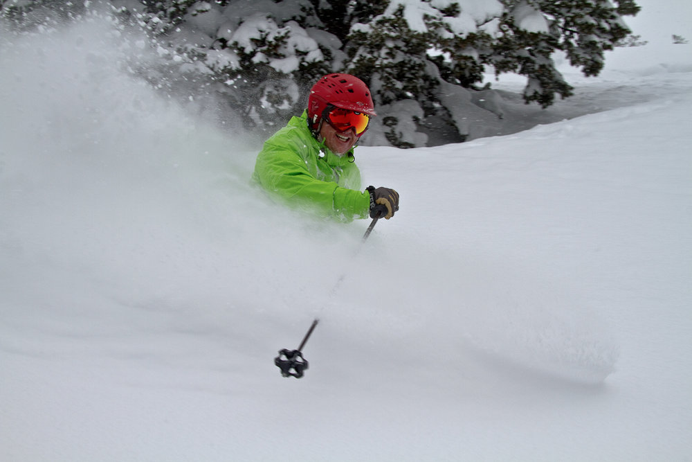 A skier sinks into powder at Beaver Mountain, which usually sees 400 inches of snowfall annually. - © Beaver Mountain