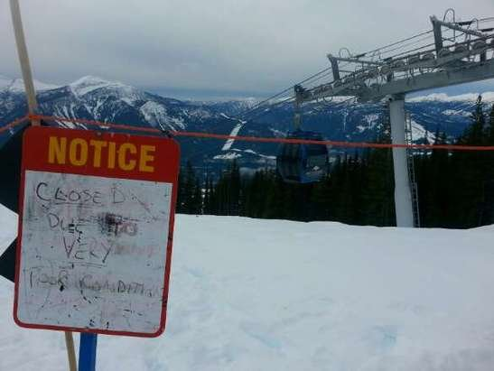 Aweful. Just aweful. Poor Revelstoke. I've never seen it this bad. Pray for snow!