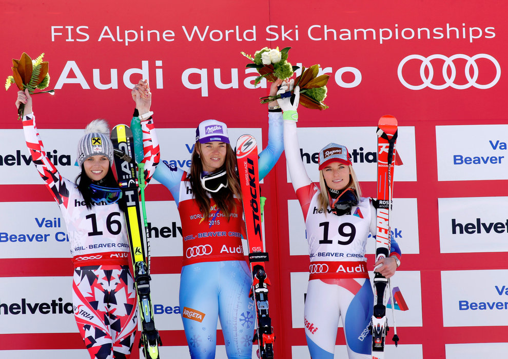 Anna Fenninger, Tina Maze und Lara Gut - ©Audi Media Service