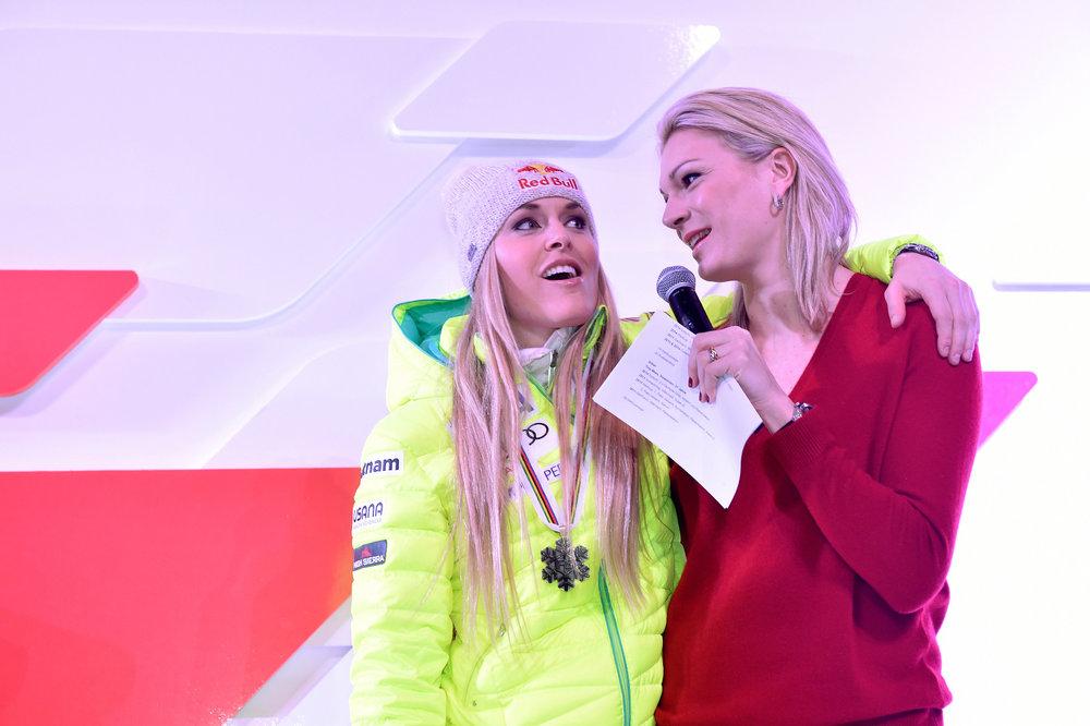 Lindsey Vonn und Marie Höfl-Riesch - ©Audi Media Service