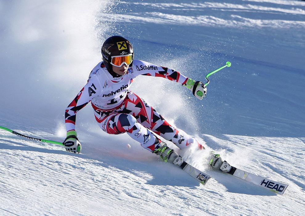 Einen guten 2. Platz in der Abfahrt erreichte Anna Fenninger für Österreich - ©Audi Media Service