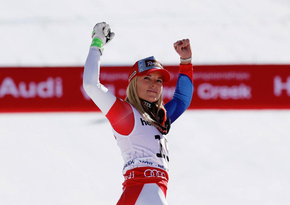 3. Platz in der Abfahrt: Schweizerin Lara Gut  - ©Audi Media Service