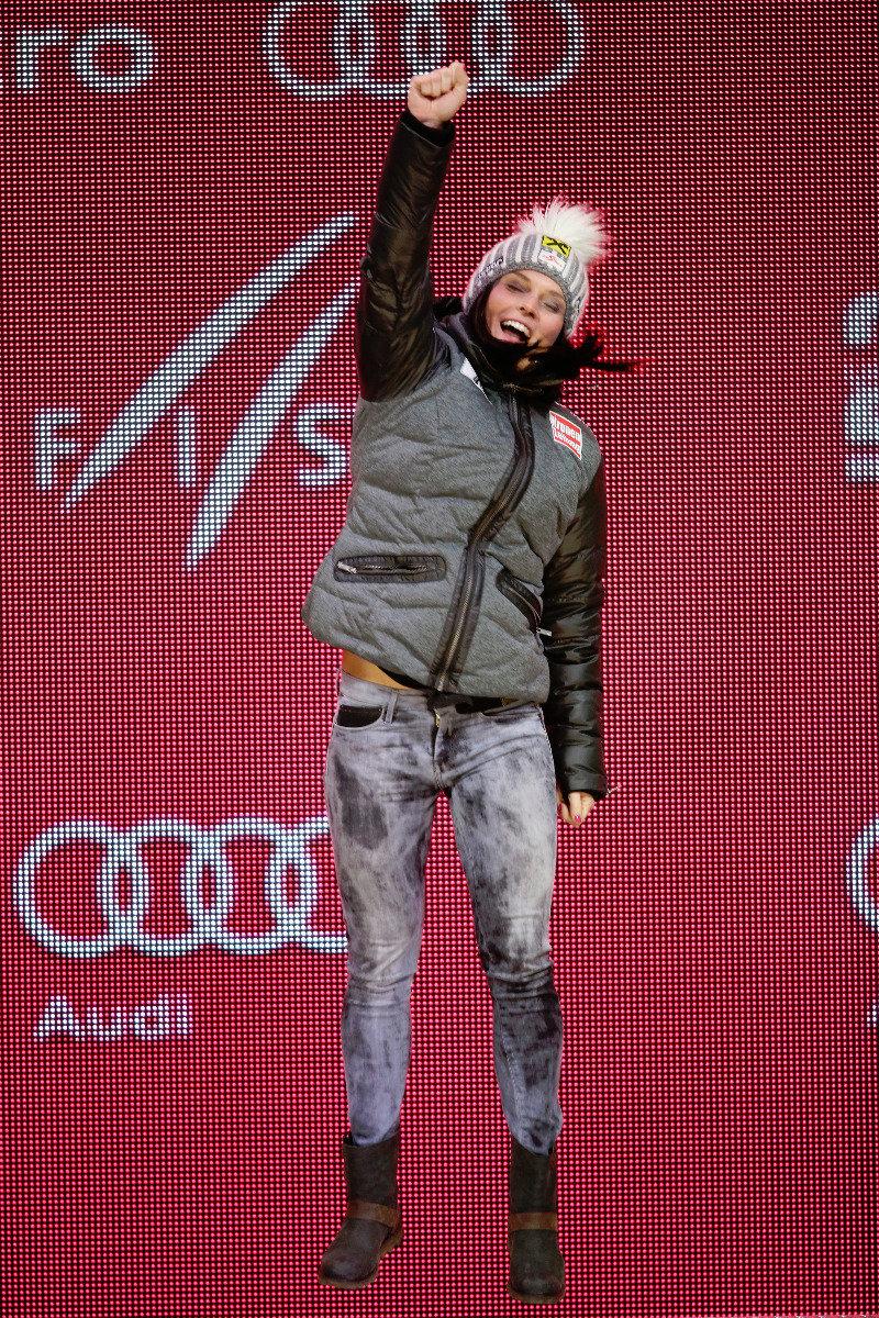 Goldmedaille im Super-G: Anna Fenninger (A) - ©Audi Media Service