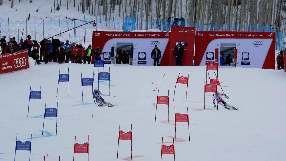 Finale im Nations Team Event: Kanada (links) gegen Österreich - ©Audi Media Service