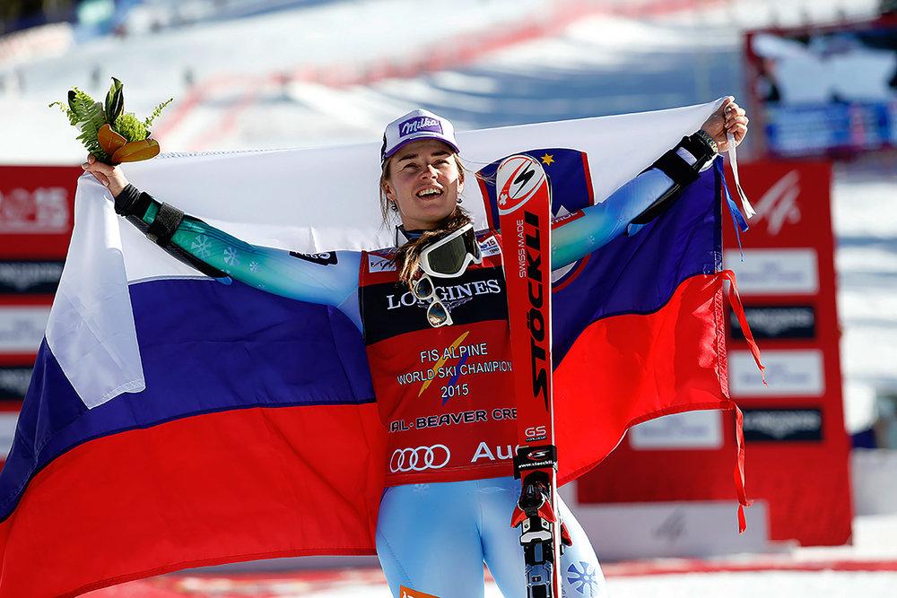 Gold und Sieg in der Super-Kombination für Tina Maze (SLO) - ©Audi Media Service