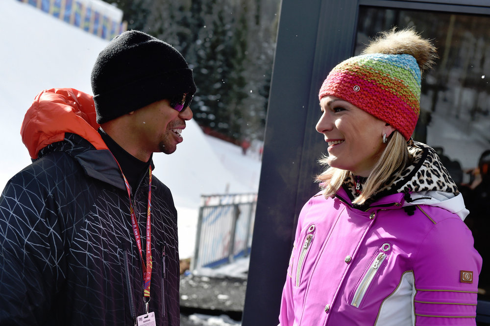 Tiger Woods und Maria Höfl-Riesch (D) - ©Audi Media Service