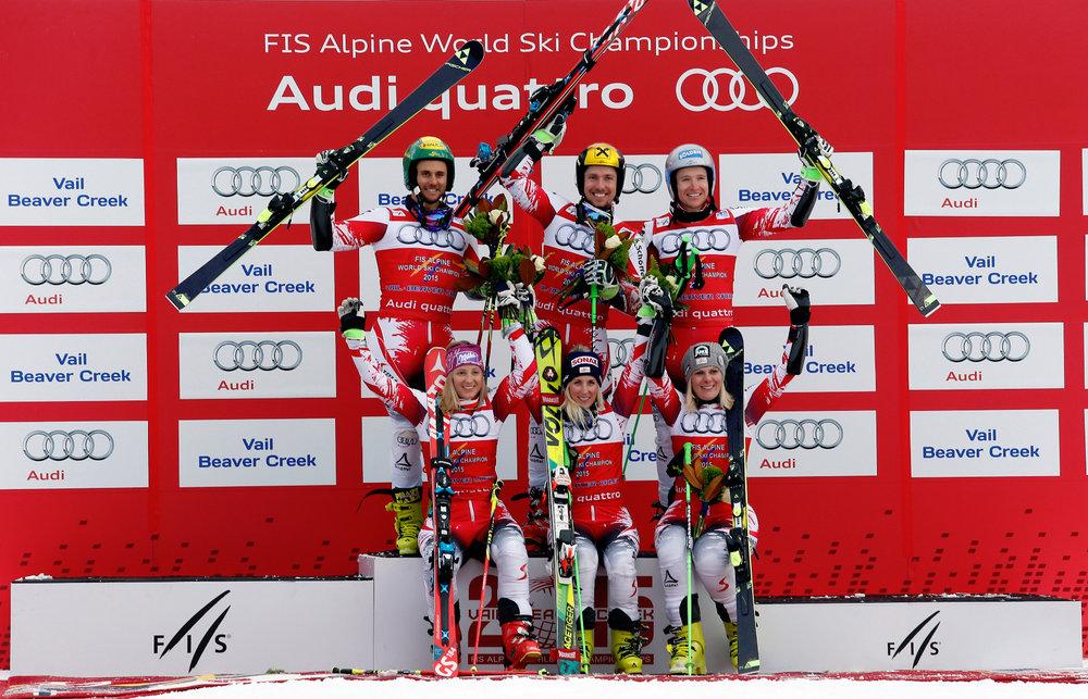 Österreichische Sieger im Nation Team Event - ©Audi Media Service