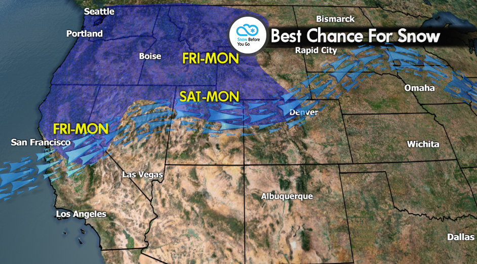 Snow Before You Go: Northern Rockies Expecting Feet of Powder - © Meteorologist Chris Tomer