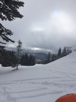 "Nice snow today. Good 7"".  Snowing good now."