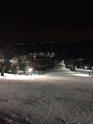 Beautiful night. No crowds. And near perfect snow. Loved it!