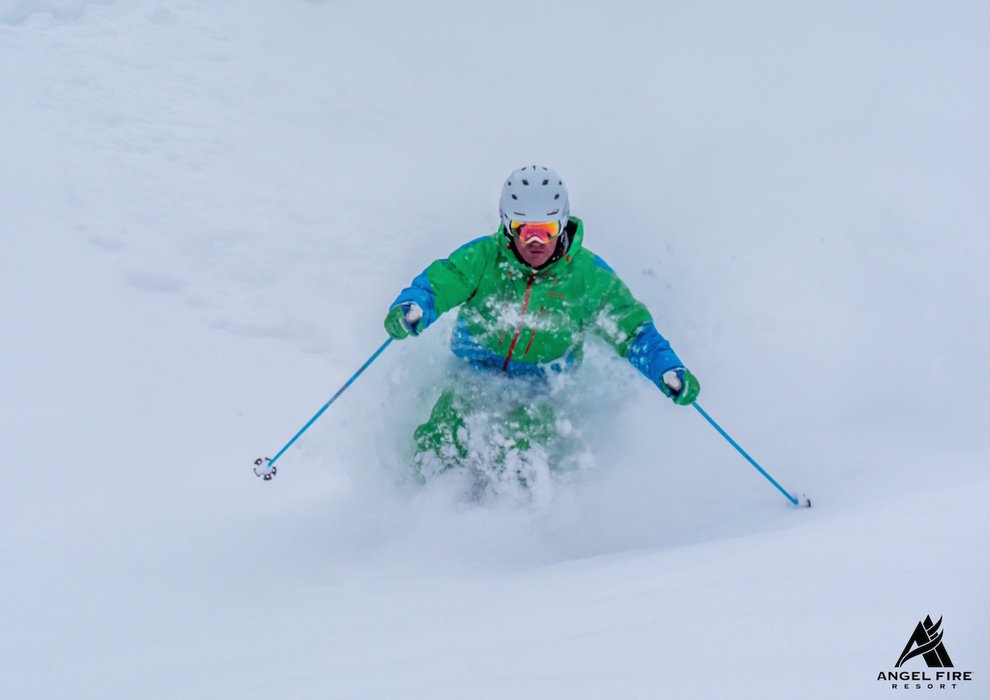 Hitting the powder in late February 2015 at Angel Fire Resort. - © Angel Fire Resort