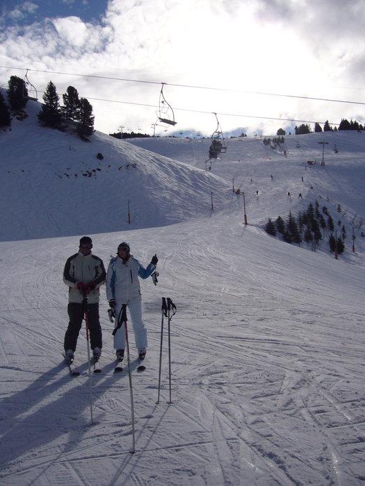 Red run in Chamrousse | My wife and bro in law - © Me | xspleetive @ Skiinfo Lounge
