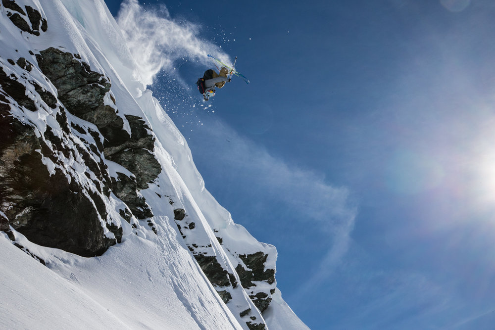 Bobby Brown sends the backflip at Monterosa. - © Liam Doran/MSP