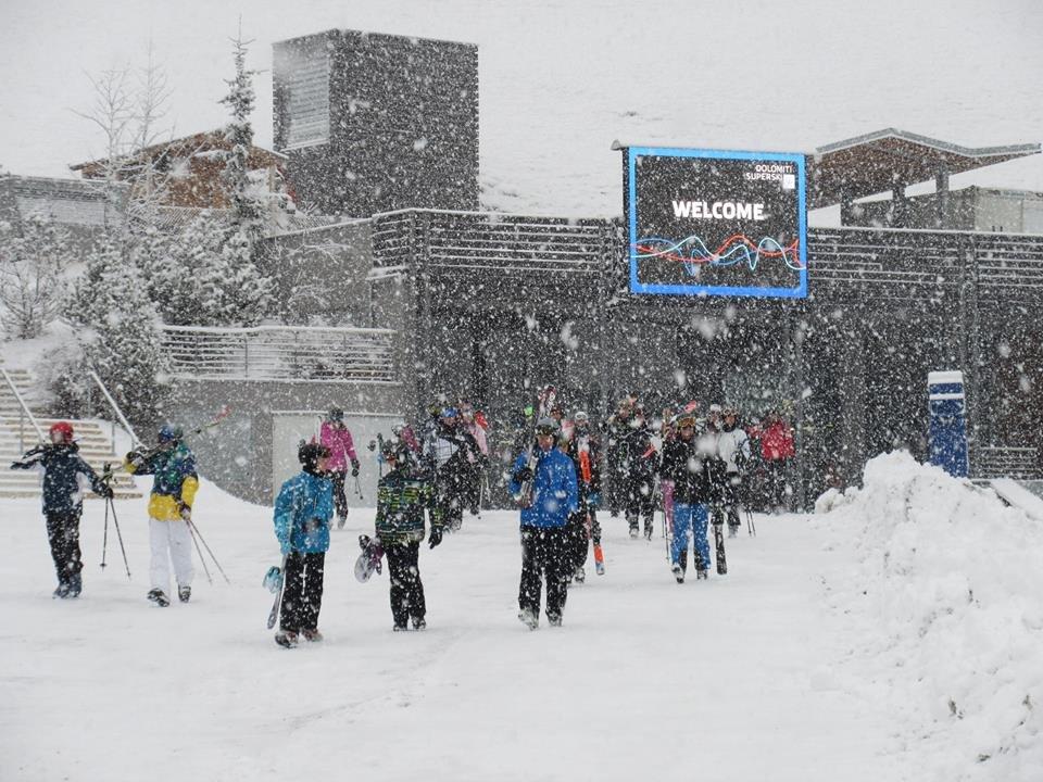 Dicker Schneefall in Gröden (24.2.2015) - © Val Gardena Facebook