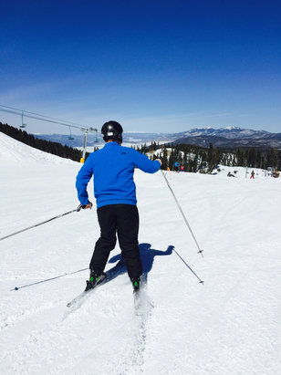Angel Fire Resort - Great conditions! Not freezing cold with great runs covered with snow!! - © Amy Krodel's iPhone