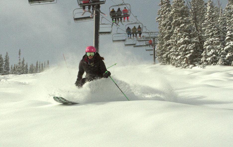 Enjoying the powder at Eldora Mountain Resort in Colorado. - ©Eldora Mountain Resort